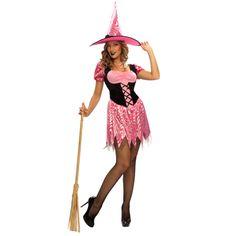 Con la llegada de Halloween nuestra categoría dedicada a los disfraces de brujas es un hervidero, nuevos modelos año tras año cada vez más originales. Prueba de ello este nuevo disfraz de bruja señora en tonos negros y rosas. #disfraces #halloween