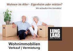 LUNG LAND Immobilien: Senioren erwarten mehr von einem Immobilienmakler und genau das bieten wir an. Hausverkauf, im Alter, Rafz, Eglisau, Bülach, Schaffhausen  www.lungland.ch