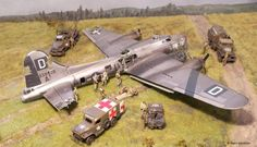 Diorama: B-17 Crash Landing (included detailed build article)