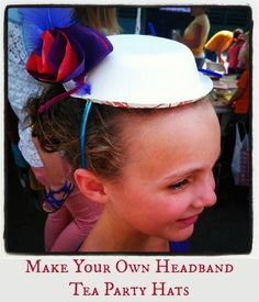 Make your Own Headband Tea #Party Hats Kids #Craft