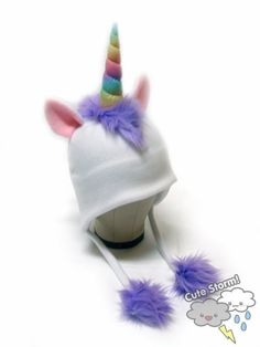 My daughter who is 4 and in love with unicorns, this would be quite perfect. Find it on Etsy.