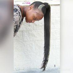 Nicki Minaj Ponytail, Nicki Minaj, braided ponytail, feeder braids, feedin braids Nicki Minaj Braids, Beyonce Braids, Black Girls Hairstyles, Curled Hairstyles, Hairdos, Braids With Beads, Box Braids, Hot Hair Styles, Natural Hair Styles