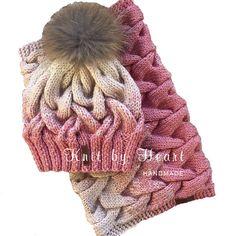 Ручная одежда Комплект женский с градиентом шапка и снуд