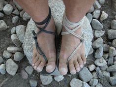"""Barefoot Ted has been testing these huarache sandals for years. Now, he makes them and sells them too. All he needs from you is payment and a paper tracing of your feet. If you can get past the """"ancient empire"""" look, they will serve you well. He even has a free how-to guide, teaching you how to make your own huarache's at home"""