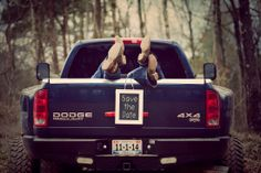 I love this photo from my save the date engagement photoshoot. Who knew a pickup truck would be such a good prop? See more engagement photos at www.dmphoto.us