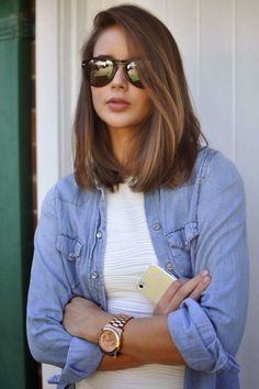 Long Bob with Side Part