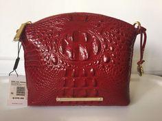 Brahmin Mini Duxbury Carmine Red Melbourne Leather Crossbody #Brahmin #Crossbody