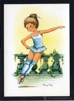 Ilustrador *Mary May* Ed. Pagsa serie 557 nº 1al 4. Serie completa. Nuevas. (Postales - Dibujos y Caricaturas)