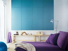 purple & blue/Ikea