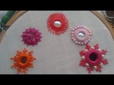 - Mirror Designs - work embroidery शीशा लगाने का सबसे आ. work embroidery The easiest way to app. Hand Embroidery Videos, Hand Embroidery Flowers, Embroidery Stitches Tutorial, Hand Work Embroidery, Hand Embroidery Patterns, Embroidery Techniques, Ribbon Embroidery, Embroidery Ideas, Kutch Work Designs