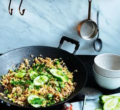 This Thai-style fried rice is simple home-cooking at its best, made with a juicy chopped fermented pork sausage. Thai Recipes, Rice Recipes, Asian Recipes, Gourmet Recipes, Cooking Recipes, Group Recipes, Asian Foods, Bar Restaurant Design, Restaurant Recipes