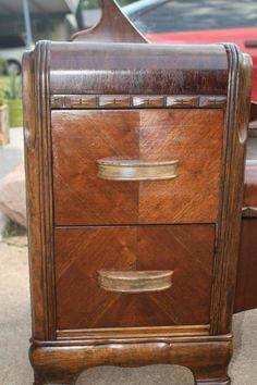 Vintage Art Deco Western-Country WaterFall Vanity Low boy Dresser Vanity. $300.00, via Etsy.