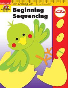 Learning Line: Beginning Sequencing, Grades PreK-K - Activity Book: Evan-Moor.com