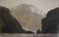 Norman Ackroyd, Oiseval from Dun, Etching from St Kilda Revisited