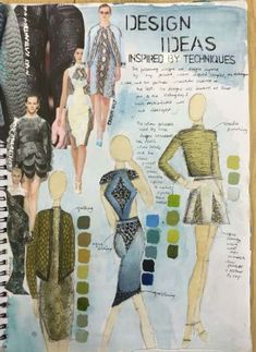 Fashion Design Sketches 631559547728349934 - Super fashion design sketchbook gcse 67 Ideas Source by graldinemignon Sketchbook Layout, Textiles Sketchbook, Fashion Design Sketchbook, Sketchbook Pages, Fashion Sketches, Sketchbook Ideas, Drawing Fashion, Portfolio Design, Portfolio Mode