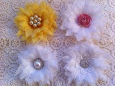 cheese cloth flowers