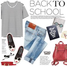 Back to school outfit by purpleagony on Polyvore featuring мода, ACHT, Alice + Olivia, Zimmermann, BackToSchool, newshoes and yoins