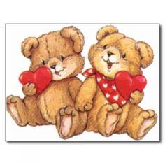 cute_valentine_teddy_bear_couple_post_card ...