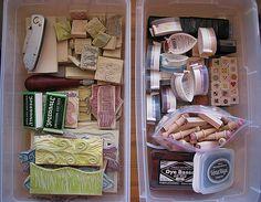 storage bins for rubber stamps by Regina Lord (creative kismet), via Flickr