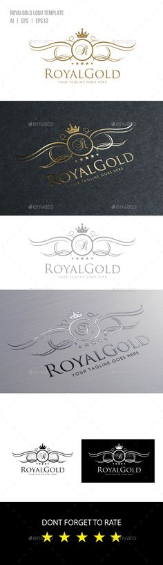 Royal Gold Logo Template — Vector EPS #vintage #victorian • Available here → https://graphicriver.net/item/royal-gold-logo-template/10018858?ref=pxcr