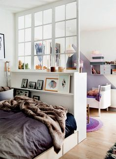 """Home """"Alone"""": Small Space Hacks for Creating Privacy At Home - Bedroom separated from Living Area - Studio Apartment Style Tips"""