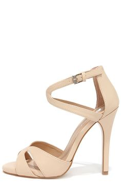 Nude Dress Sandals//