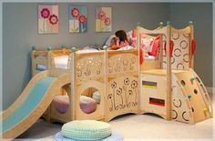 Playful Kids Room Playbeds & Playsets Natural Wood Furniture
