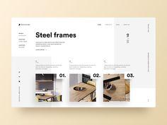 Tipografía UI - Proyecto 73 ux diseñador minimalista minimalista limpio diseño web w . Layout Design, Website Design Layout, Web Layout, Clean Web Design, Minimal Web Design, Design Web, Portfolio Web Design, Portfolio Site, Page Design