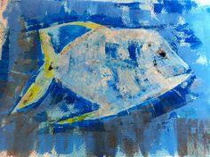 Blu fish  30x40