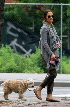Minka Kelly Walks Her Dog