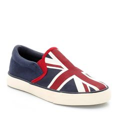 Abcd'r Little Boys Flag Print Slip-On Low Ankle Trainers ** Click image for more details.
