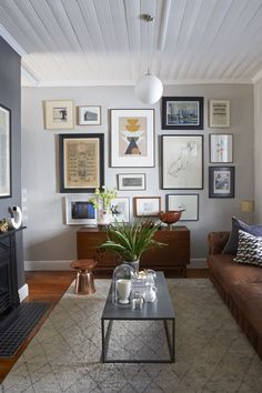Art wall in our Green Point cottage. Photography courtesy of House & Leisure magazine.