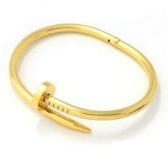 Bracelet clou or 2016 Supernatural Style Trendy Bracelets, Trendy Jewelry, Modern Jewelry, Fashion Bracelets, Fine Jewelry, Fashion Jewelry, Bracelet Clou, Bangle Bracelets, Stainless Steel Nails