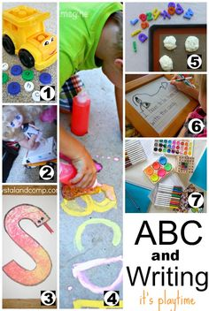 ABC Activities and Writing Activities for Kids - http://amomwithalessonplan.com/its-playtime-abcs-and-writing/