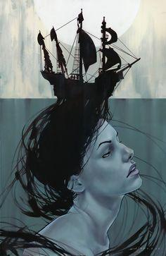 voyage by theirison (digital illustration)