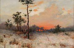 Sunset by Felicián Moczik, 1900. Slovak national gallery, CC BY
