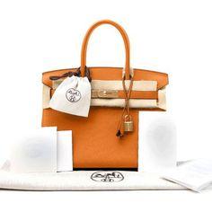 d2864fbf4d09 New Hermes Birkin Bag Togo Orange 30cm Women s Handbag with Gold Hardware  on Sale - Authenticity