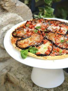 Tarte aux aubergines, tomates et parmesan