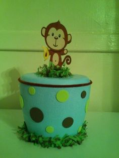 Hielera de Mono (Baby Shower)