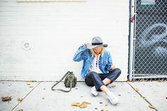Denim jacket & leather pants - Tickle Your Fancy - Blogi | Lily.fi