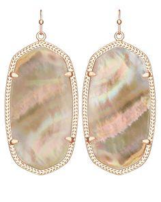 Danielle Rose Gold Earrings in Brown Pearl - Kendra Scott Jewelry