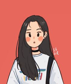 """""""Prick"""" Art by Sabrena Khadija on Get to know the illustrator and designer now. Cartoon Kunst, Cartoon Drawings, Cute Drawings, Kpop Drawings, Drawing Faces, Kawaii Drawings, Art Anime Fille, Anime Art Girl, Cute Art Styles"""