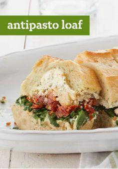 "Antipasto Loaf – Say ""buongiorno"" to your new potluck staple. It ..."