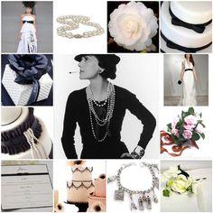 A Black & White Paris Themed Wedding Inspired By Coco Chanel Chanel Wedding, Chanel Party, Wedding Hair, Dream Wedding, Parisian Party, Parisian Style, Parisian Wedding, Chanel Brand, Coco Chanel