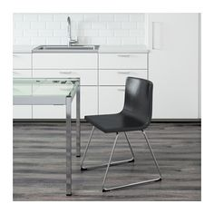 "BERNHARD Chair, chrome plated, Kavat Mjuk dark brown  - IKEA, $159 -- Tested for: 243 lb Width: 19 1/4 "" Depth: 19 5/8 "" Seat width: 17 3/4 "" Seat depth: 15 3/4 "" Seat height: 18 7/8 "" Height: 30 3/8 """