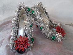 Ooh Lala Ugly Tacky But Sexy Christmas Sweater Party Shoes Sz 11 | eBay