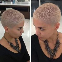 go shorter — Late night creation. Really Short Hair, Short Grey Hair, Short Wavy, Short Hair Cuts For Women, Short Hair Styles, Short Pixie, Shaved Hair Cuts, Shaved Head, Pixie Haircut