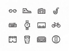 Hipster Icons by Floris Voorveld on Dribbble