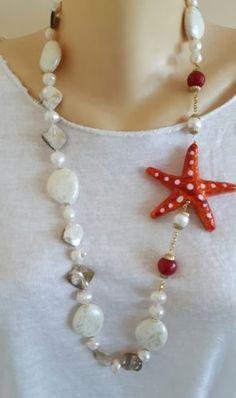 Collana-ceramica-Caltagirone-perle-bianche-madreperla-e-diaspro