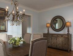 Dining room buffet decor. Lauren Nicole Designs | Dining Room Interior Design Charlotte NC Weddington